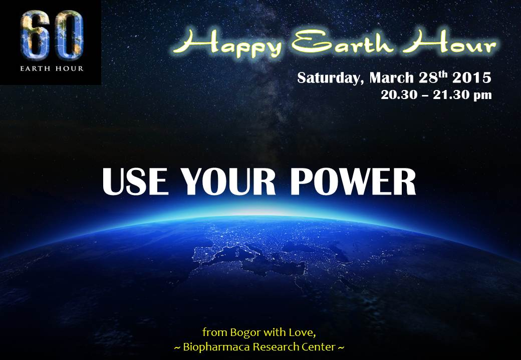 postcard happy earth hour