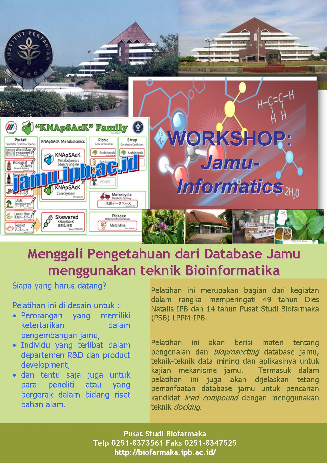 Flyer Workshop Jamu Informatics